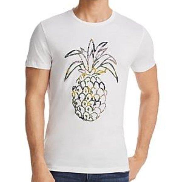 Hugo Boss Pineapple Print Crewneck T-Shirt Size La
